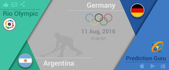 #Rio #2016 #Olympics #hockey Upcoming at 9:00pm IST #Argentina v #Germany Predit2Win at http://pgur.in/6sgxay