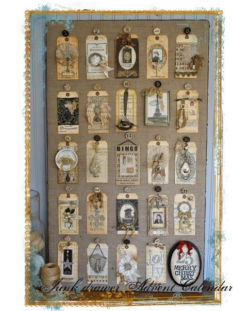Gorgeous Advent Calender with instructions for some of the tags