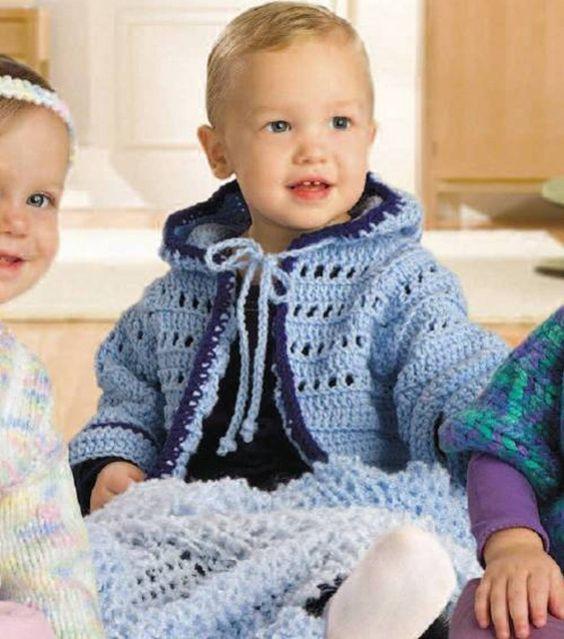 Hoodie, Babies and Crochet baby cardigan on Pinterest