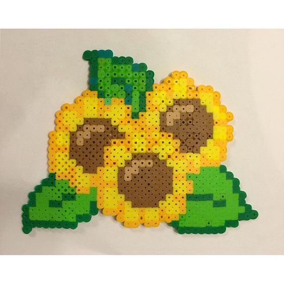 Sunflowers hama beads by  invisible_carrott