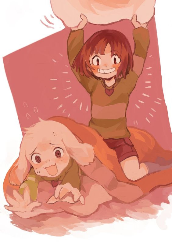 Chara and Asriel by ぼんすけ (@bnsk25) | Twitter