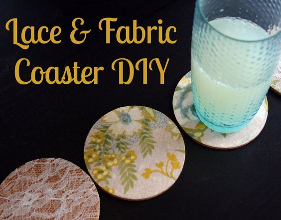 DIY: lace and fabric coasters. #DIY #lace #tutorial #coaster