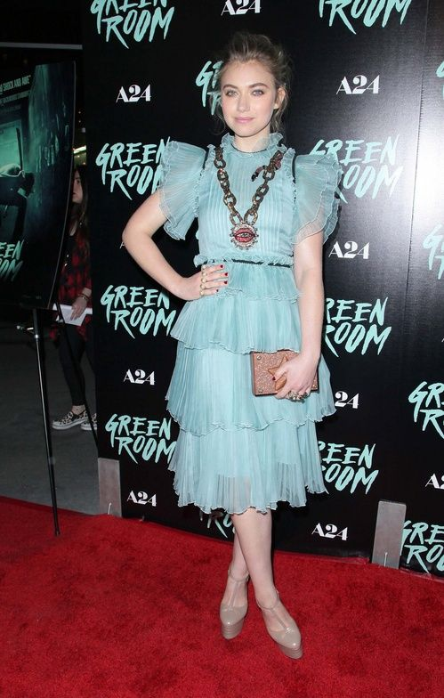 Imogen Poots in Gucci