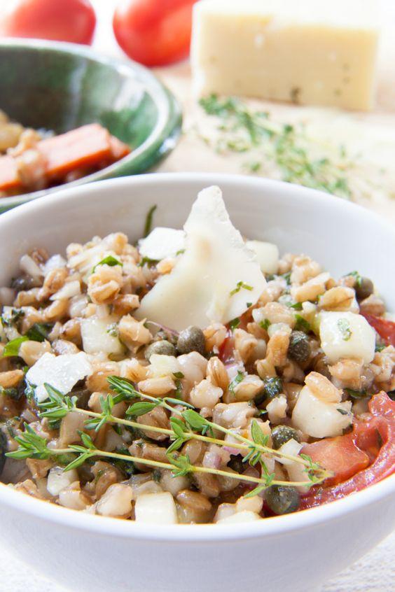 Puglian Barley Salad with Pecorino Cheese | Salads | Pinterest ...