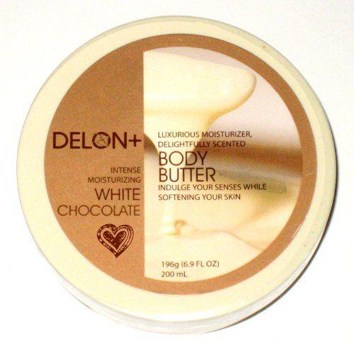 DELON Intense Moisturizing White Chocolate Body Butter 6.9oz/196g Delon+ http://www.amazon.com/dp/B000LPSGL4/ref=cm_sw_r_pi_dp_Dcguub13FE53N