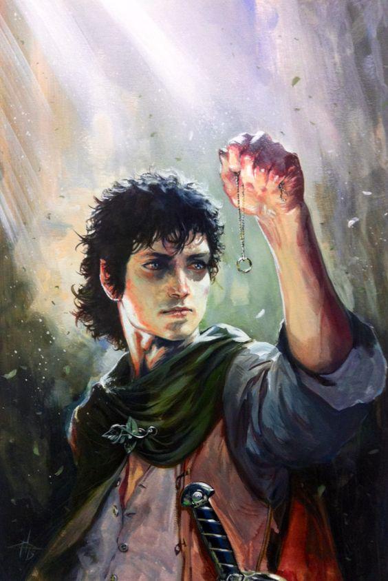 gabrieledellotto: Frodo painting * #lordoftherings #fanart