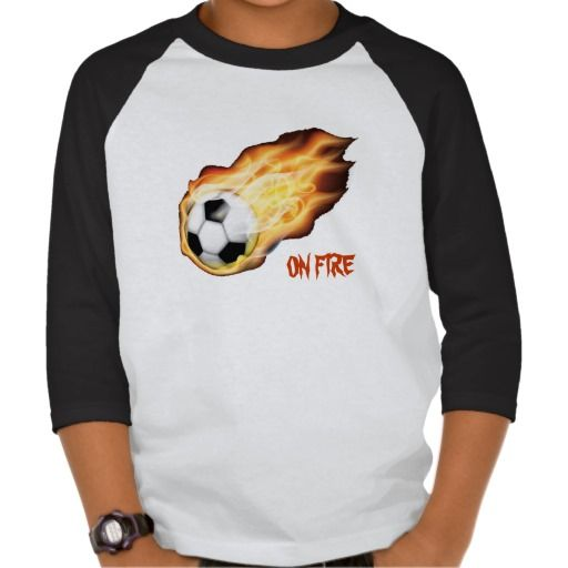 On Fire for Soccer Tee Shirt by Sand Creek Ventures