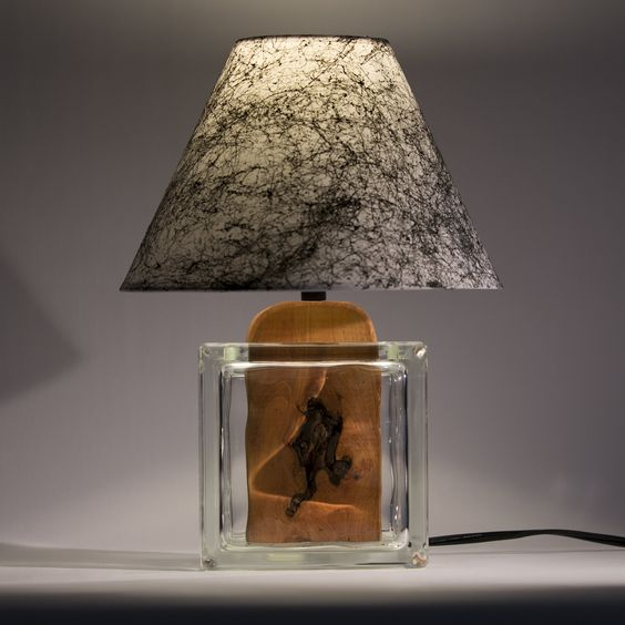 Glass block lamp