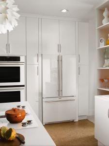 Jenn air floating glass french door refrigerator kitchen for Jenn air floating glass refrigerator