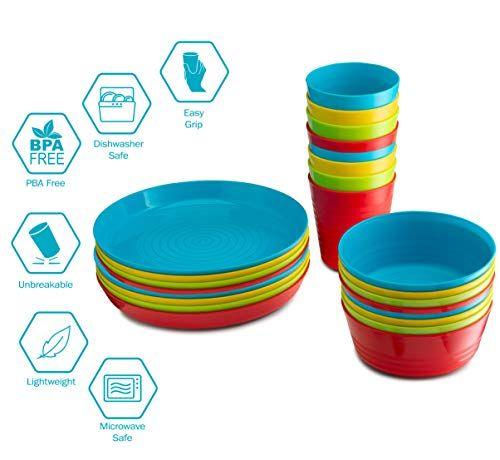 Plastic Dinnerware Set Reusable