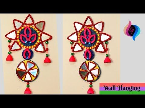 Making Wall Hanging With Waste Material Wall Hanging Recycling Hanging