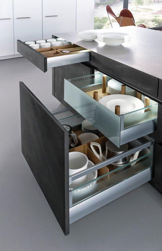 CONCRETE-A u203a Lack u203a Modern Style u203a Küchen u203a Küchen Marken - versenkbare steckdosen k che