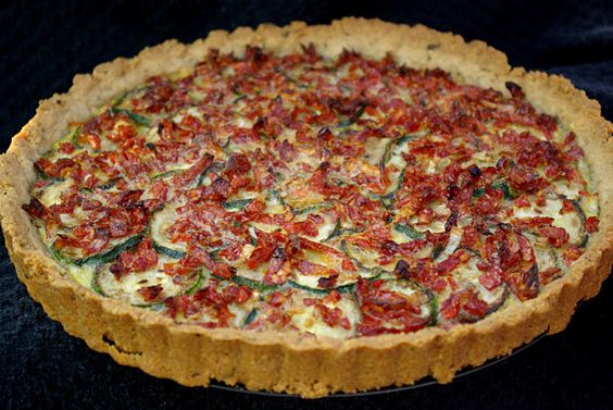 zucchini and sundried tomato tart