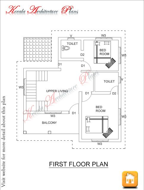 1600 Square Feet Four Bed Room House Plan House Plans How To