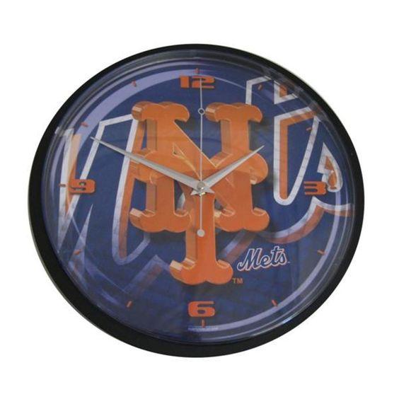 "Hunter 12"" Round Wall Clock- New York Mets"