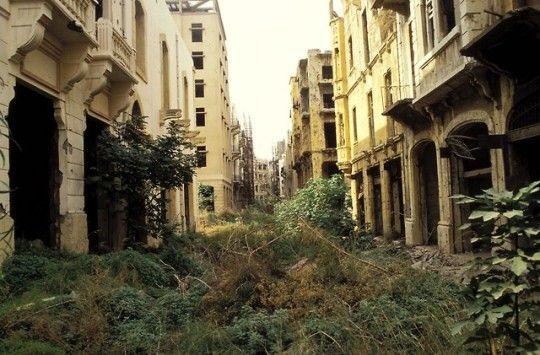 The Green Line Demarcation Zone Lebanon By A Abbas 1982 During