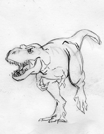 Pencil Drawings Of Dinosaurs Cool Dinosaur Drawing Image Art Pinterest