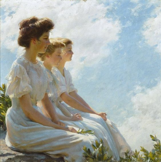 On the Heights, 1909  Charles Courtney Curran was an American Impressionist painter: