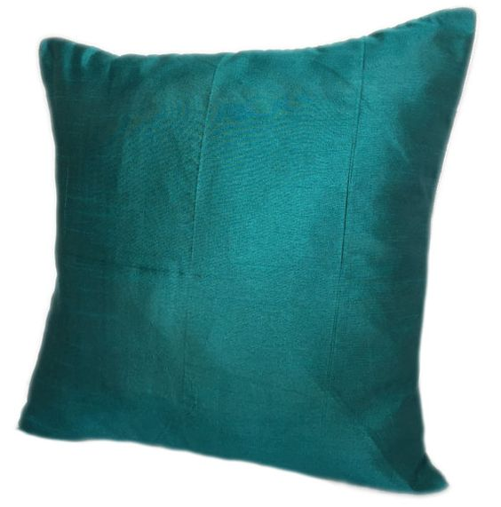 Set of 2 Solid Teal Pillow Cover Plain Teal by TheWhitePetalsDecor