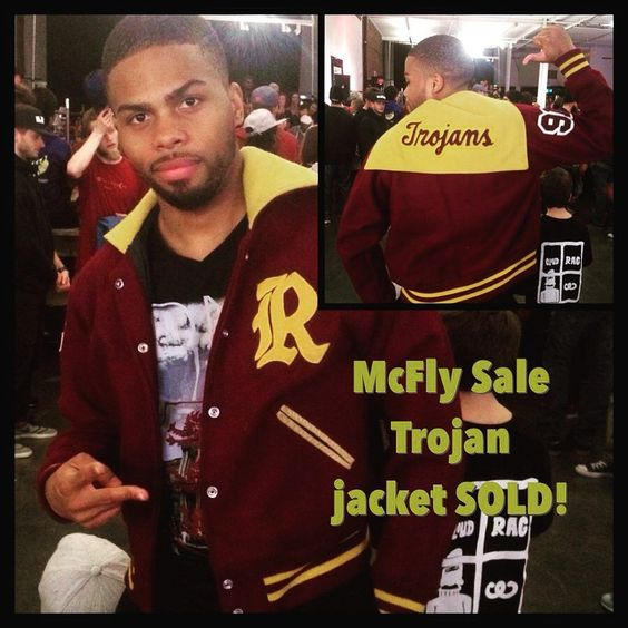 McFly sale was on fire last night this cool fella copped the Retro Trojans jacket! @canigetasoulclap event last night #mcflyexperience by leahmcflywaackeisha
