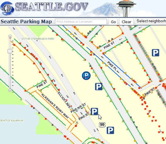 Web Map Tip Seattle Parking Map