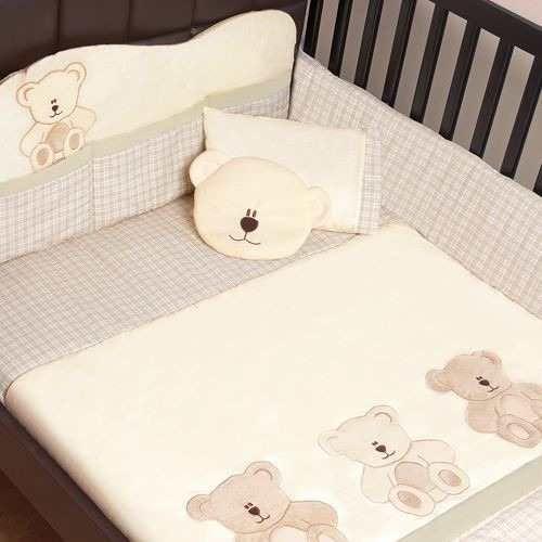 Set de edredon para cuna de bebe oso teddy cabecera almohada 1 edredon para cuna - Chichoneras y edredones para cunas ...