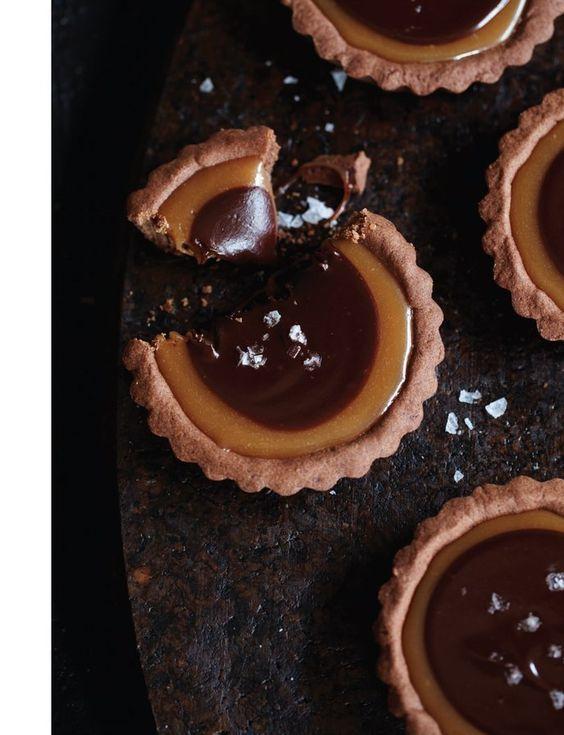 chocolate caramel tarts, Sweet Paul Magazine - Fall 2012 - Page 58-59
