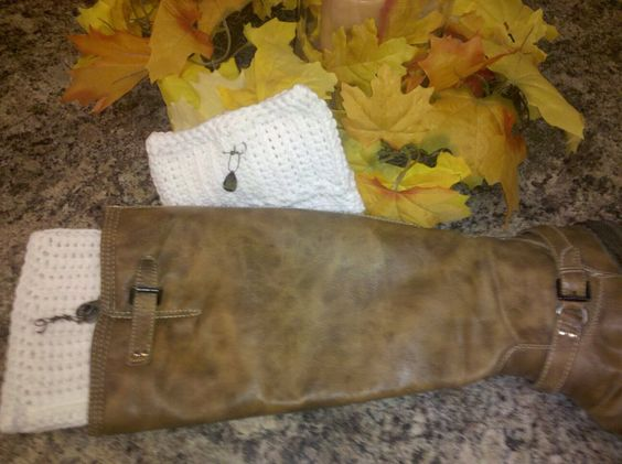 Boot cuffs with charms