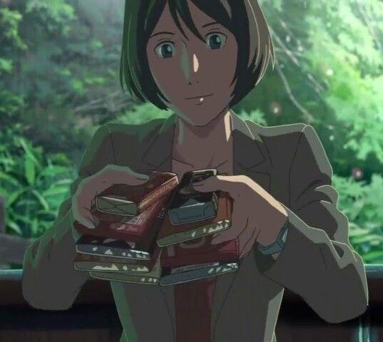 Yukari Yukino The Garden Of Words Garden Of Words Anime Movies Anime