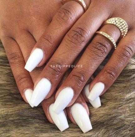 51 Ideas Nails Acrylic Medium Length White White Acrylic Nails Square Acrylic Nails Nail Shapes Square