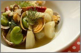アサリと菊芋の洋風煮
