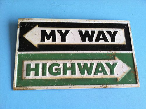 Cool Man Cave Signs : Quot my way highway metal sign garage shop chevy man cave art