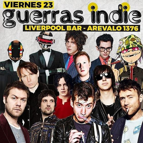 the.brit.sound/2016/09/24 08:45:02/HOY!!! @GUERRASINDIE ★  Desde 00:30 hs. 👉 Liverpool bar palermo ★ (Arevalo 1376 - Palermo). 👉 Videos en pantalla gigante!  #tameimpala #thewhitestripes #gorillaz #paulmccartney #thestrokes #oasis #blur #arcticmonkeys #alexturner #juliancasablancas #blur