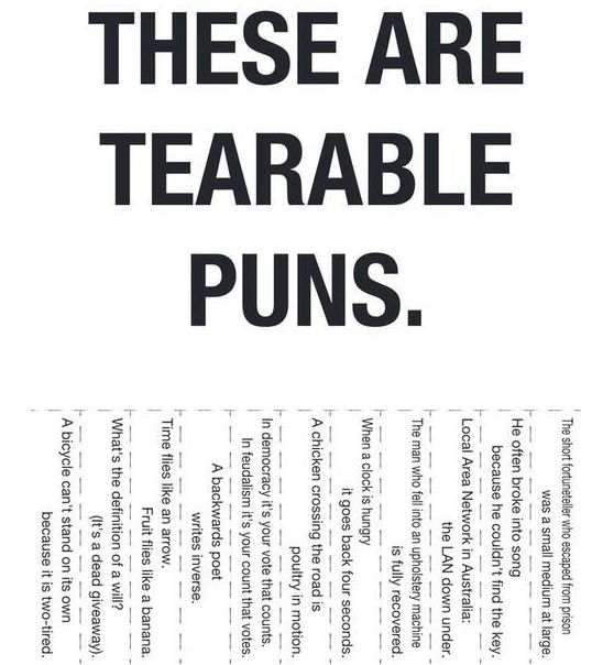 World's hundred worst puns - click to see the full list ...