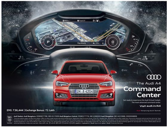The Audi A4 Command Center Ad Bangalore Times 16 07 2017 Car