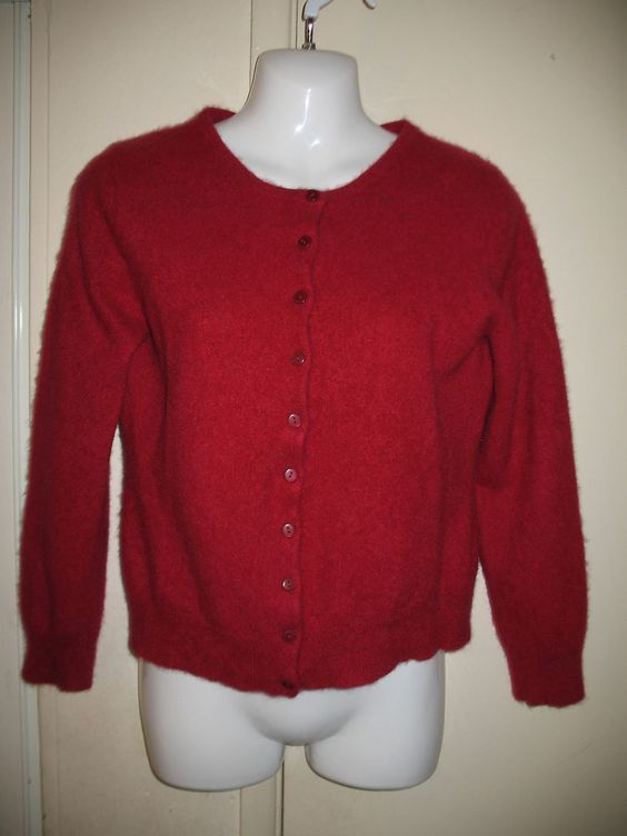 Apt. 9 100% Cashmere Womens Red Button-Down Cardigan Sweater, XL ...