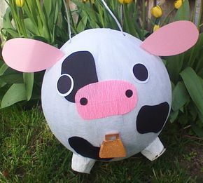 Cow Pinata With Cowbell by PinataPals on Etsy