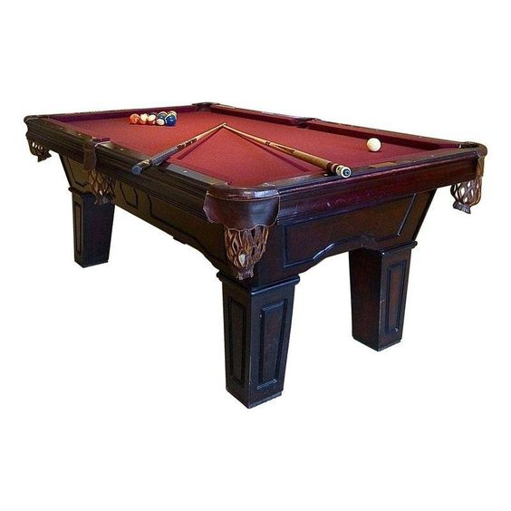 Pool Table Solid OAK SHELL Carved Red Felt Slate Leather Catch 8u0027 New Ships  Free #nowplaying | Classic Home | Pinterest | Red Felt, Pool Table And  Solid Oak