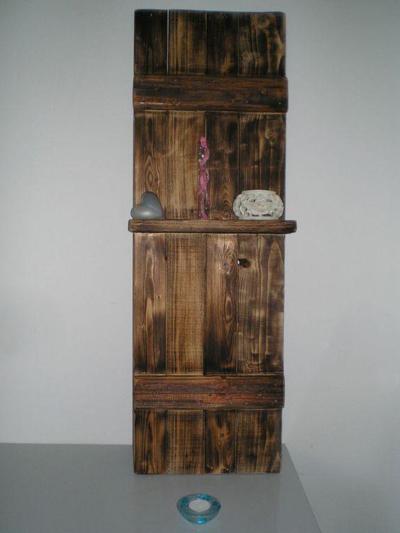 Deko fensterladen wanddeko holzschild shabby antik altholz for Wanddeko shabby