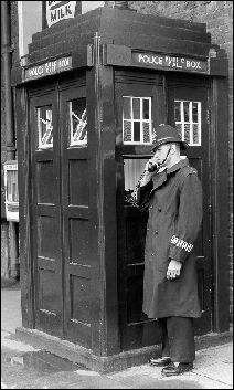 An actual real police box in the 1950s.