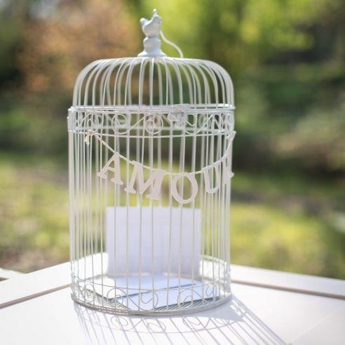 cage oiseau amour - Urne Mariage Cage Oiseau