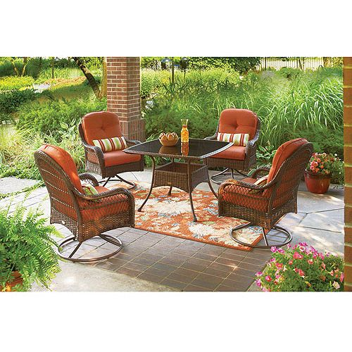 Better Homes And Gardens Azalea Ridge 5 Piece Patio Dining Set Seats 4 Patio Furniture