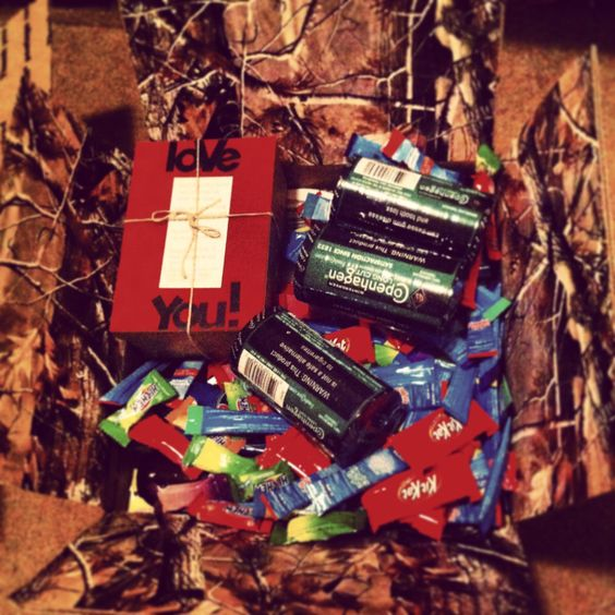 Hunting Theme Deployment Care Package #deployment