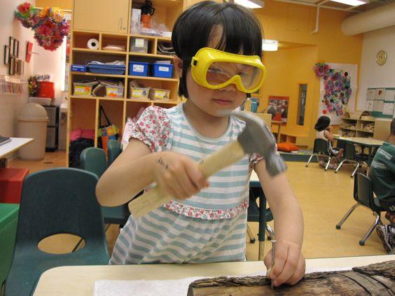 a garden: woodworking with preschoolers