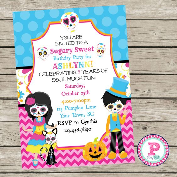 The Book Of Life Birthday Party Invitations