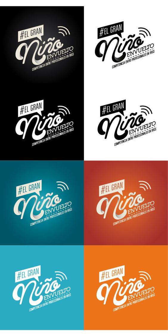 Logo de #ElGranNiñoEnvuelto para reallity show realizado en @loquenosgusta