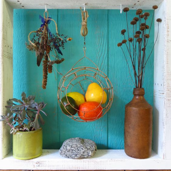 Hanging Basket, Copper, Decorative