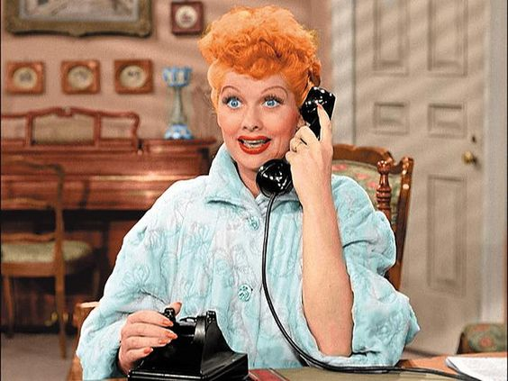 Lucy Ricardo Colorized Lucille Ball In A Scene From I