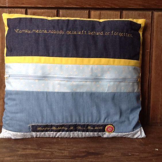 Back of LILO and Stitch cushion