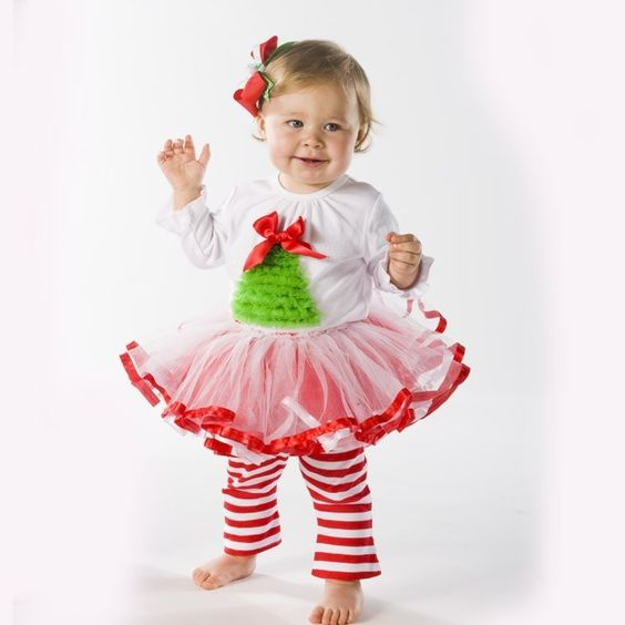 Mudpie Christmas Tree Tutu Set